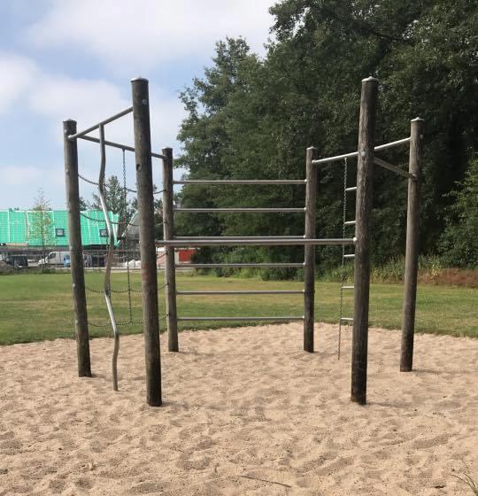 Start locatie fit in het park
